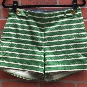 Meadow Rue Anthropologie Shorts Green Striped